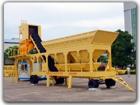 75m3/h Mobile Concrete Mixing Plant